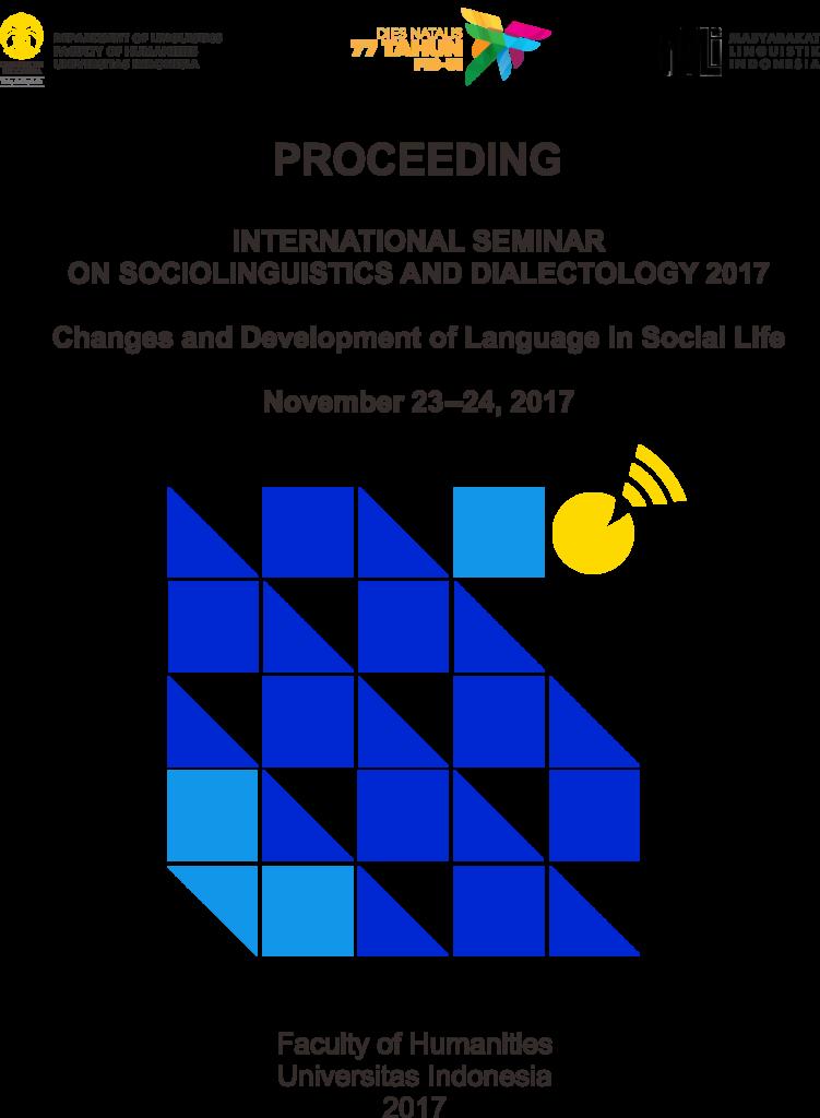 Proceeding International Seminar On Sociolinguistics And